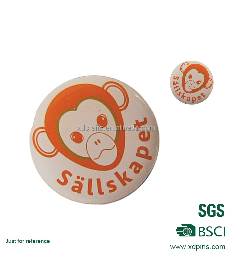 Top quality monkey printed lapel pin no minimum order