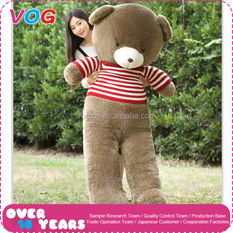 Best handmade toys organic pink and blue 2 meters custom stuffed huge giant teddy bear skin plush toy for girl