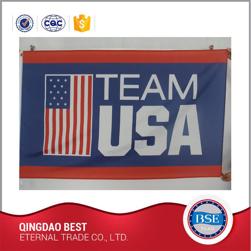 High Quality Polyester Indoor Outdoor Wholesale Sports Flags For Promotion