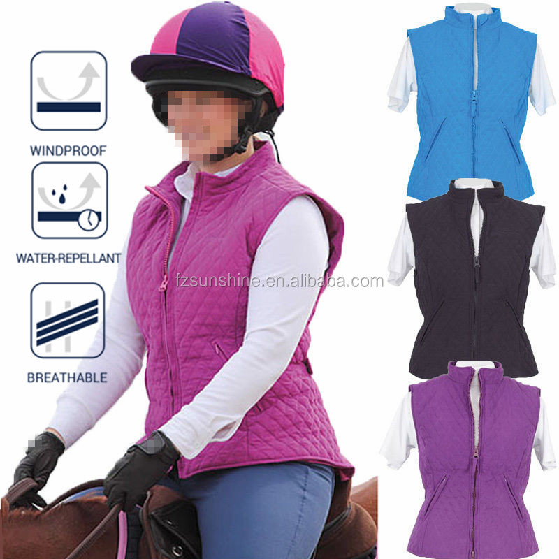 Quilted Diamond Pattern Equestrian Ladies Horse Riding Vest, View ... : quilted riding vest - Adamdwight.com