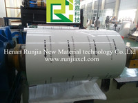 Rolled aluminum coil and aluminum strip for roofing sheet