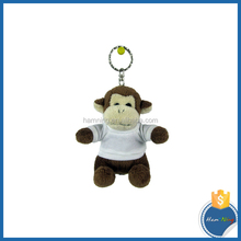 wearing white T Shirt Monkey mouse bea sublimation Keychain Toy