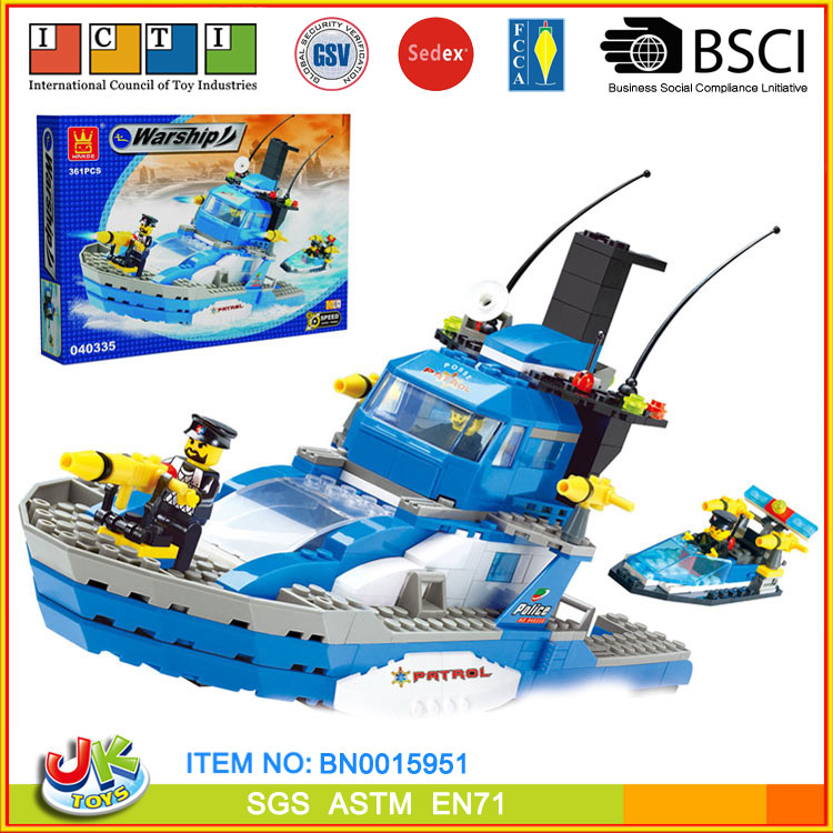[JK TOYS] Creative building blocks warship model small size with 361+ pcs