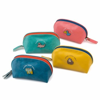 Languo small storage bag cute animal PU leather coin purse in candy colors purses handbags