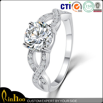 Wholesale Unisex Ring 18K Gold Platinum Plated Zircon Fashion Jewelry Rings With Austria Crystal