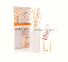 250ml air freshener aromatic ceramic bottle perfume diffuser with rattan sticks for hotel and home decoration