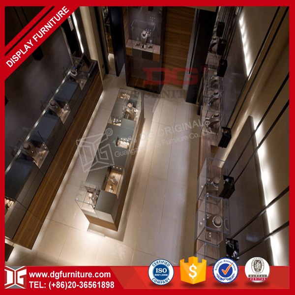 Western style 3d retail jewellery store interior design