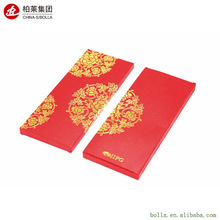 Wholesale Custom Made Chinese with Logo Gold Foil Craft Kraft Paper Colored Packaging Gift Wedding Printing Red Envelope