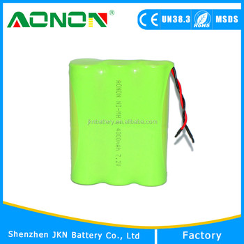High Quality 7.2voltage 4000mah C Ni-MH Rechargeable battery pack