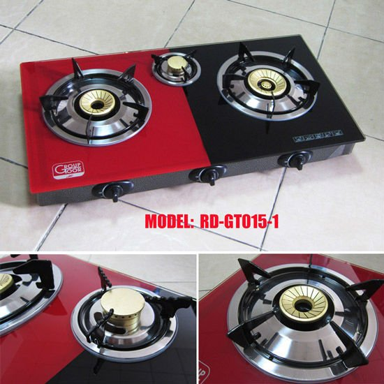 Glass Top table gas stove 3 burner (RD-GT015-1)