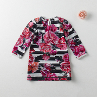 girls dress with all over printing