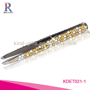 Colorful Rhinestone Eyelash Tweezer In Beauty And Personal Care