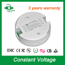 900mA 1200mA 1500mA 1800mA round shape led driver constant voltage