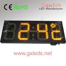 12inch large yellow outdoor electronic digital led clock