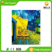 Noble wall art bright plastic stone embroidery absract Van gogh oil painting