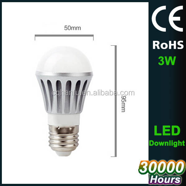 E27 3w 110v led bulb light with high quality