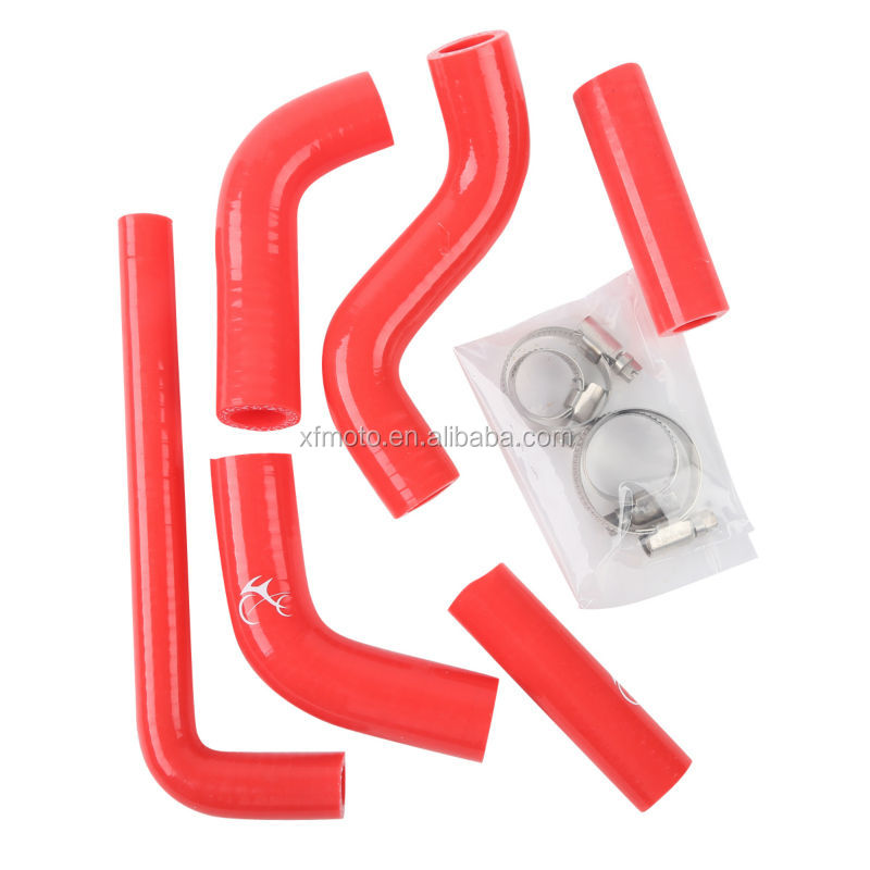 Motorcycle Red Silicone Radiator coolant Hose For KTM 400 450 525 EXC 02-06 03 04 05