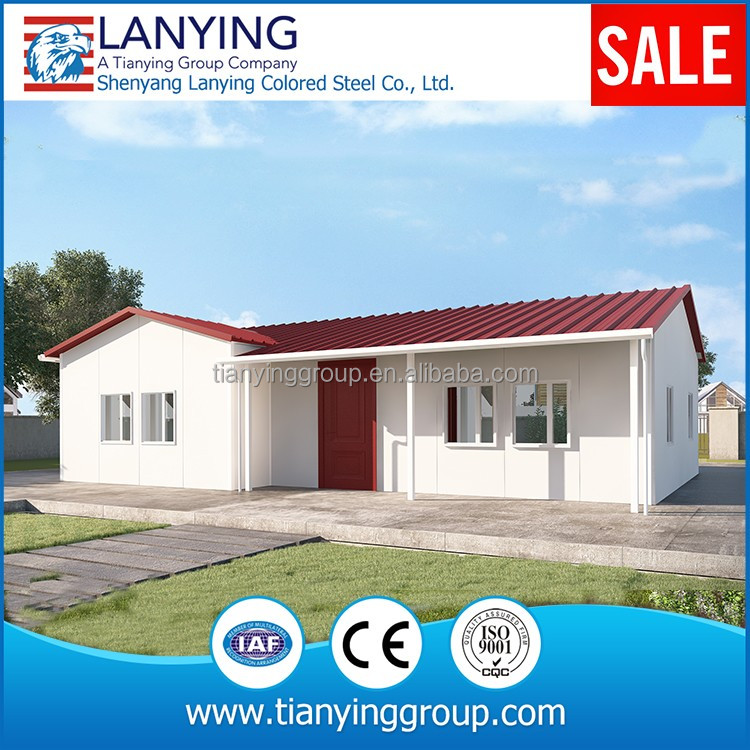 Sandwich panel prefab house with light steel structure house for USA