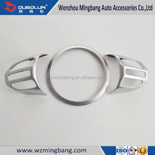 Interior accessories ABS Chrome Steering Wheel Cover for Kia KX3 2015