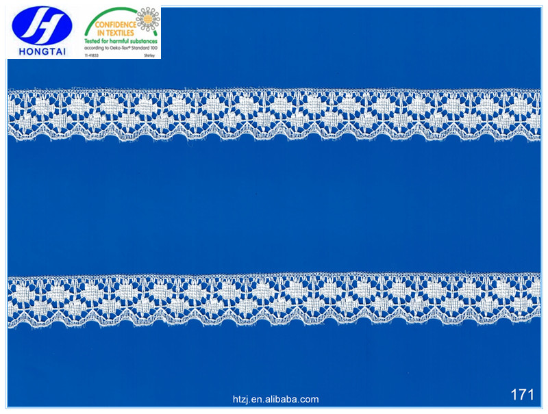 Fuzhou Good Quality Embroidery Lace trim fabric cotton sarees china market dubai for fashional women dressing