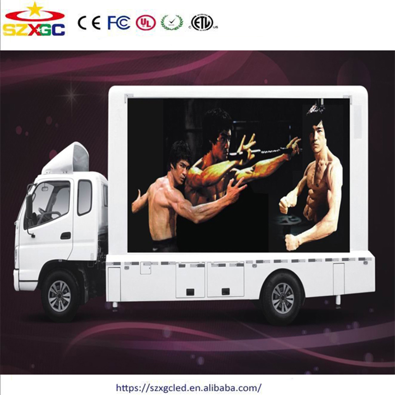 Mobile Electronic Signs Trailer Advertising Trucks Full Color LED Screen Outdoor Video Display