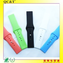 Rubber,100% silicon Material and Sport Type Wrist Strap Case Cover For Apple Watch