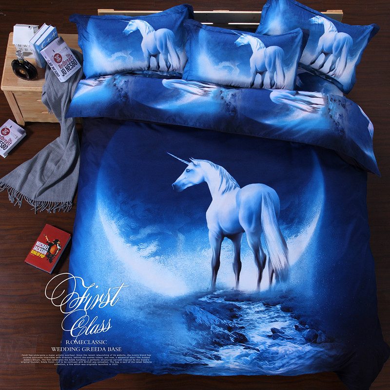 3D printed bedsheets bedding sets bed comforter set with polyester material