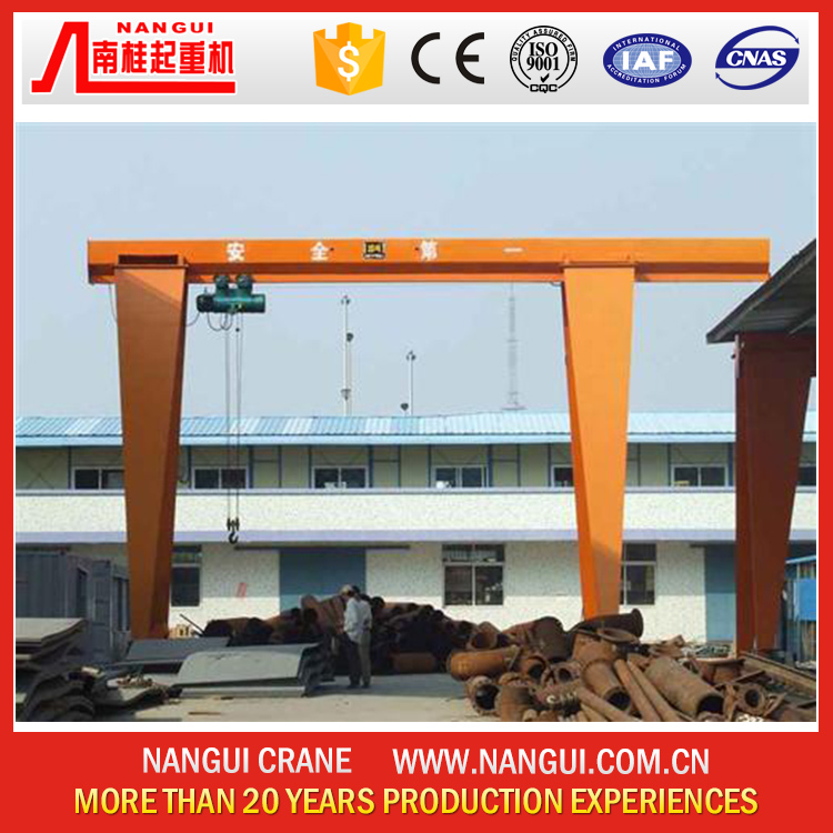 Reasonable price remote pendent cabin control Single girder gantry crane 5 ton 10 ton 20 ton with limit switch overload