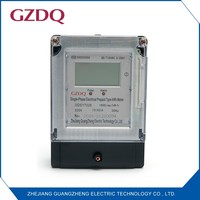 Single phase electronic prepayment kwh meter, protect from power theft and record the information auto