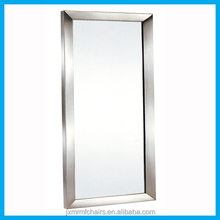 New salon styling mirror station/ Stainless steel beauty wall mirror for sale JXC311A
