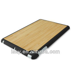 Genuine Wooden Bamboo iPad mini Case with Durable Plastic Edges with Smooth Matte Finish Black