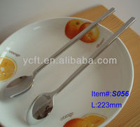 S056 stainless steel Ice spoons,Long handle ice spoon with Square handle