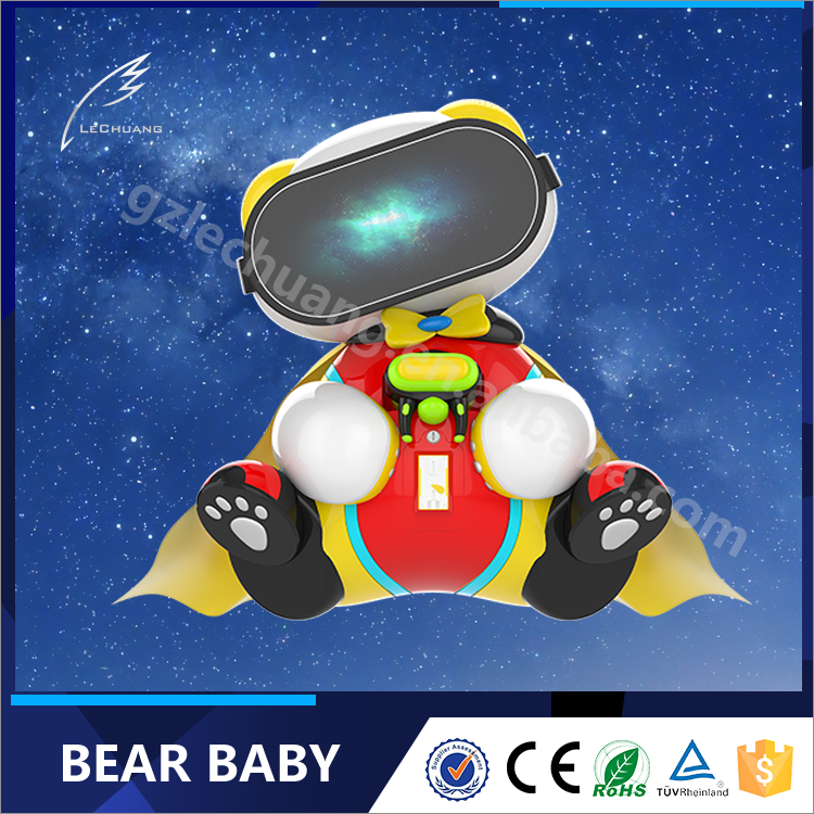 VR Education For Kids VR Bear Play Puzzle Video Game Machine