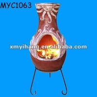 Good quality unique outdoor terracotta chimney firepit