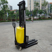High lift hand operate truck 500kg semi electric power forklift