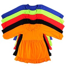 High Quality Baby Girls Kids Cotton Frocks Design Baby Girl Autunm Winter Dresses Latest Party Wear Dresses For Girls