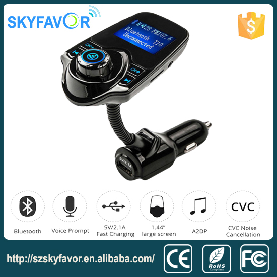 Factory price lcd display handsFree mp3 player usb car charger car radio bluetooth fm transmitter