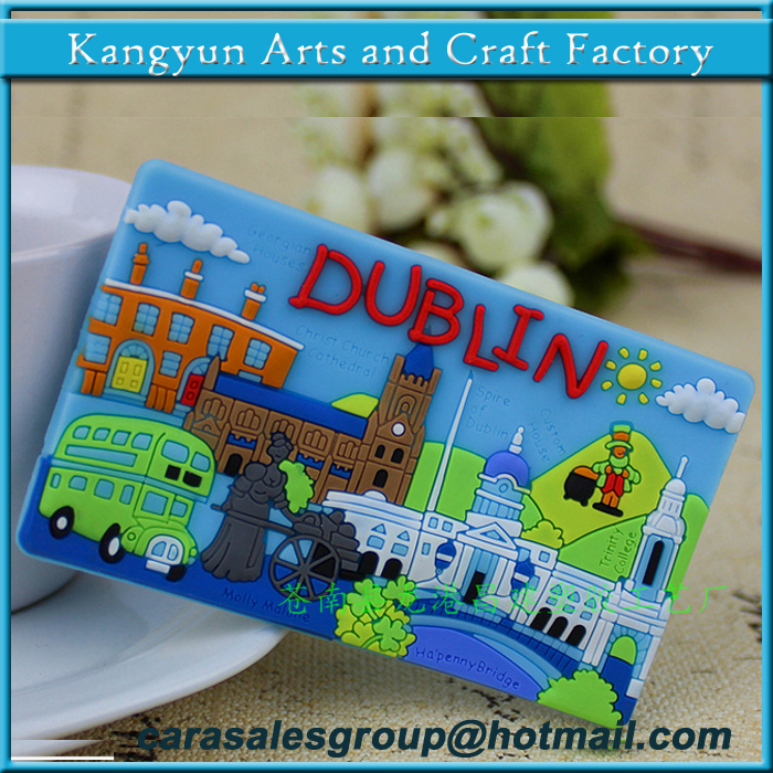 Dublin city name rubber fridge magnets for different countries