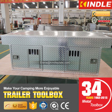 Factory Custom Outdoor Hunting Large Double Doors Aluminum Trailer Dog Cage Tool Case