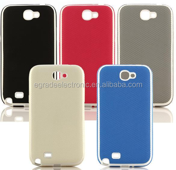 wholesale The new diamond grain TPU single bottom leather cover cases for samsung n7100 Note2