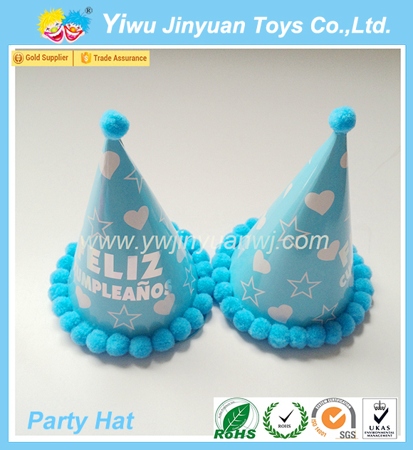 China Hot Sale Paper Fedora Polka Dot birthday party Hat