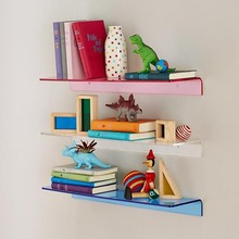 Wall Mounted Acrylic Book Shelf, Acrylic Wall Decorative Shelf for Home, Plastic Wall Shelf