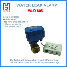 Home automation with auto valve water activated alarm
