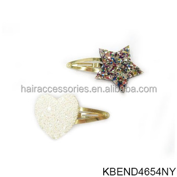 Colorful Little Diamond Hair Clips Heart-shaped Mini Beak Clips For Baby Girls