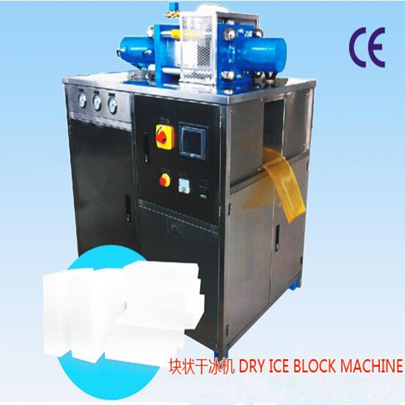 food truck dry ice blasting industrial cube making machine