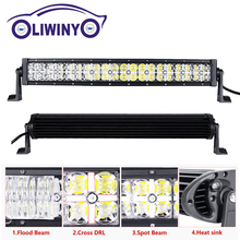 Liwiny Car Accessories DC12V Dual Row Offroad Led Driving Light Bar 60w 120w 180w 240w 300w UTV Offroad Work Lamp For Vehicle
