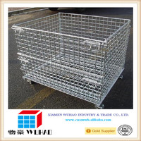 Steel box pallet wire mesh metal cages