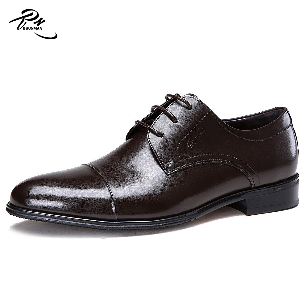 Black leather nice men formal leather class shoes