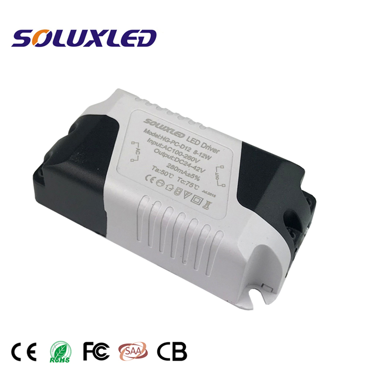 Non Waterproof Competitive Price Constant Current LED Driver 8-12W 280mA 300mA Power Supply