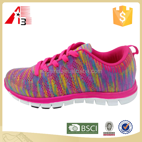 2017 comfortable woman knit sport shoes